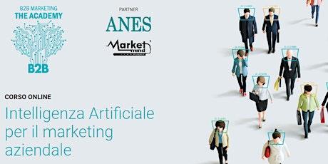 Intelligenza Artificiale per il marketing aziendale biglietti