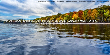 Webinar: 2020 Draft Integrated Water Quality Report and Mapping Application tickets