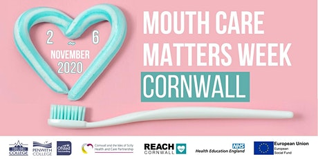 Mouth Care Matters Week Cornwall funded webinars tickets