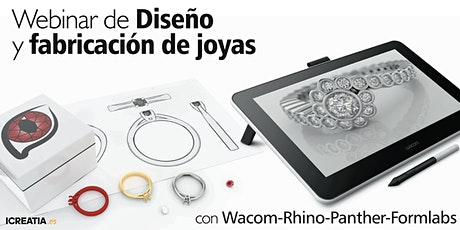 Webinar de Diseño y fabricación de joyas con Wacom-Rhino-Panther-Formlabs entradas