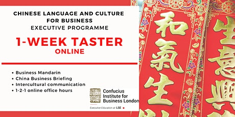 Chinese Language and Culture for Business: 1-week FREE taster tickets