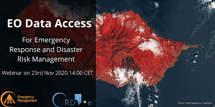 EO Data Access for Emergency Response and Disaster Risk Management Webinar image