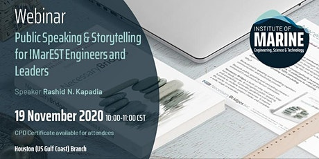 WEBINAR: Public Speaking & Storytelling for IMarEST Engineers and Leaders tickets