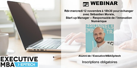 EMBA Epitech Webinar : Réussir son Executive MBA  avec Sébastien Morele billets