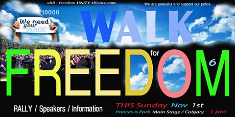Walk For Freedom 6 tickets
