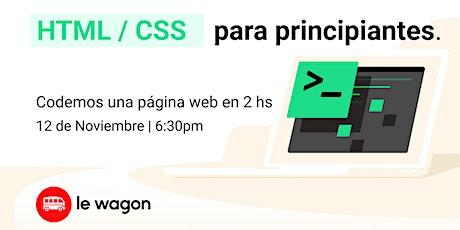 Web Development - HTML + CSS entradas