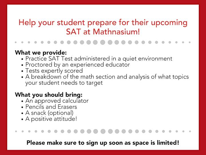 FREE SAT Practice Test at Mathnasium image