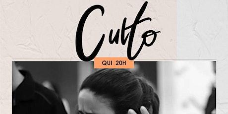 CULTO QUINTA-FEIRA 29/10 NOITE 20H ingressos