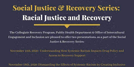 TCNJ Social Justice and Recovery Series: Racial Justice and Recovery tickets