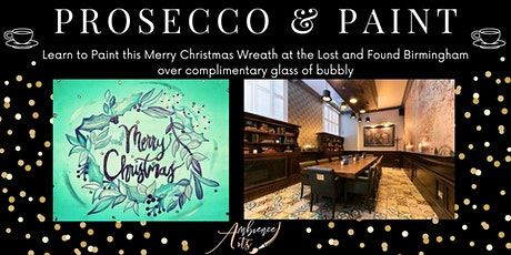 Prosecco & Paint- Paint this Merry Christmas Wreath @ The Lost and Found tickets
