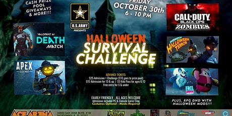 Halloween Survival Challenge & Gaming Night tickets