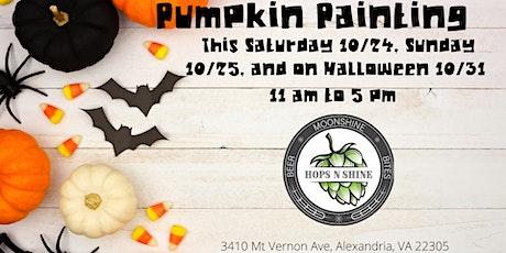 Halloween Pumpkin Painting at Hops N Shine Saturday tickets