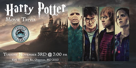 Harry Potter Movie Trivia at Crooked Crab tickets
