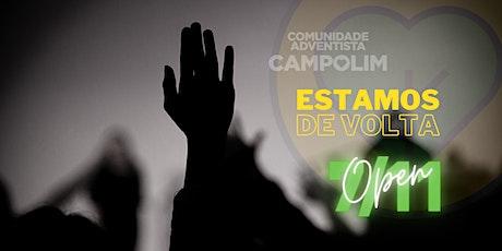 RESERVA PARA CULTO PRESENCIAL DA COMUNIDADE ADVENTISTA DO CAMPOLIM bilhetes