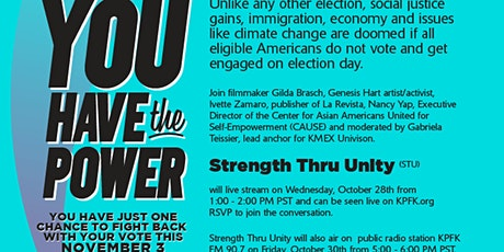 """Strength Thru Unity"" Multicultural Election Special tickets"