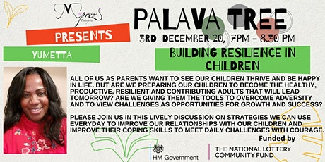 Palava Tree Webinar - Building Resilience in Children tickets