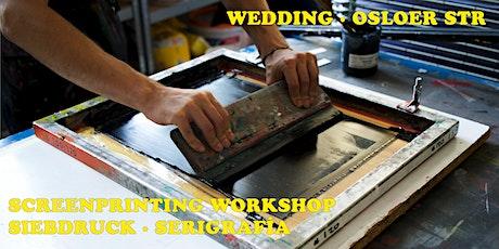Screenprinting (Siebdruck) Workshop for Beginners  31.10 tickets