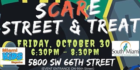 Miami Kids Magazine & City of South Miami Drive Thru Scare Street & Treat tickets