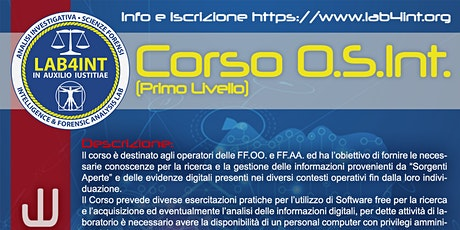 Open Source Intelligence (Primo Livello) OnLine