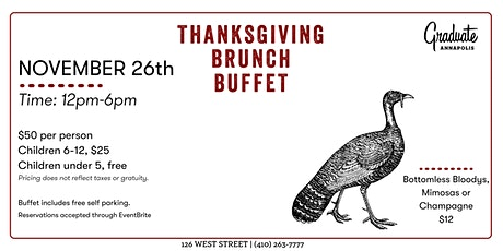 Thanksgiving Brunch at Graduate Annapolis tickets