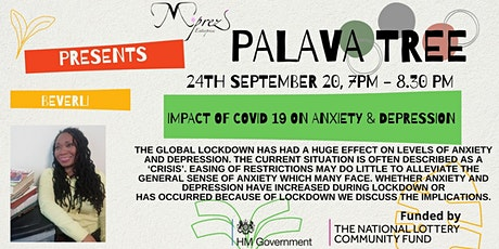 Palava Tree Webinar - Impact of COVID 19 on Anxiety and Depression Part 2 tickets