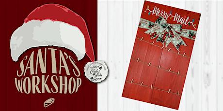Santa's Workshop Sip & Create Holiday Card Holder tickets