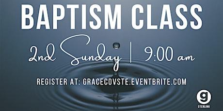 Baptism Class tickets
