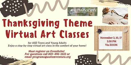 Virtual Art Classes for ASD Teens and Young Adults tickets