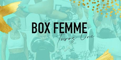 Box Femme turns 1 tickets