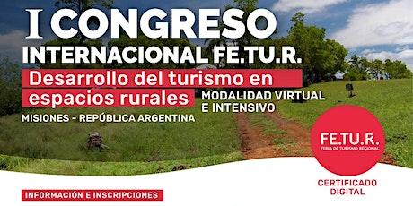 1er Congreso Internacional. Desarrollo del Turismo en Espacios Rurales entradas