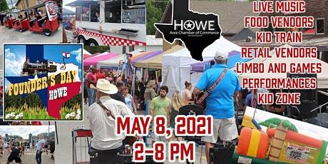 2021 Howe Founders Day Festival Vendor Purchase tickets