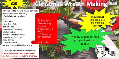 Christmas Wreath Making Adult Course tickets