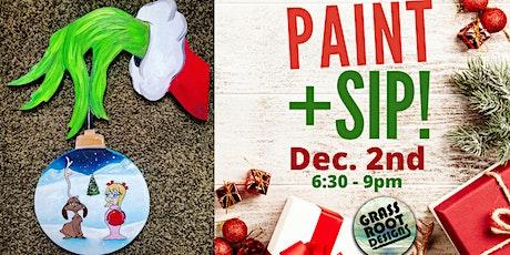 Grinch Hand   Paint + Sip! tickets
