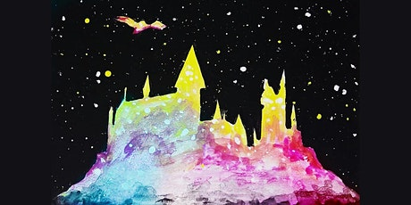 60min Harry Potter Hogwarts Painting Lesson  @3PM ( Ages 6 +) tickets