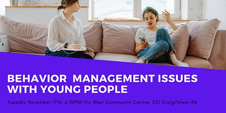 Behaviour Management Issues and Young People tickets