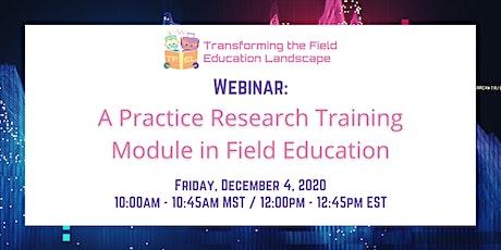 TFEL Webinar: A Practice Research Module in Field Education billets
