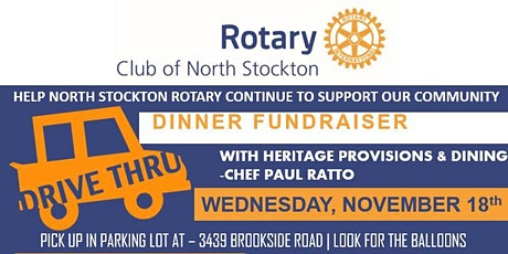 NORTH STOCKTON ROTARY DRIVE -THRU DINNER FUNDRAISER tickets