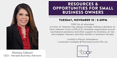 Resources & Opportunities for Small Business Owners tickets