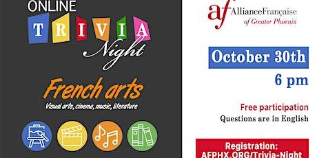 Virtual Trivia Night - French arts tickets