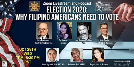 Election 2020: Why Filipino Americans Need to Vote tickets