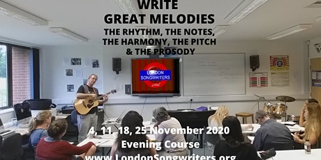 WRITE GREAT MELODIES - 4 Week Evening Course tickets