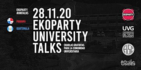 Ekoparty University Talks Panamá + Guatemala 2020 entradas