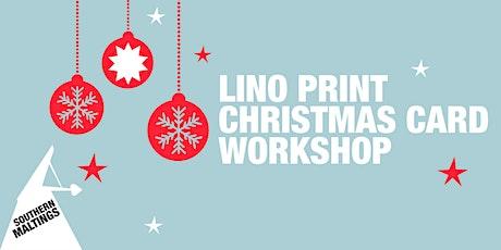 Lino Print Christmas Card Workshop tickets