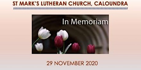 29 November 2020 In Memoriam Sunday tickets