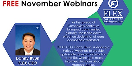 FLEX November Webinar Series: What Juniors MUST Know About College Apps tickets