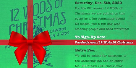 12 WODs of Christmas, 2020!!! tickets