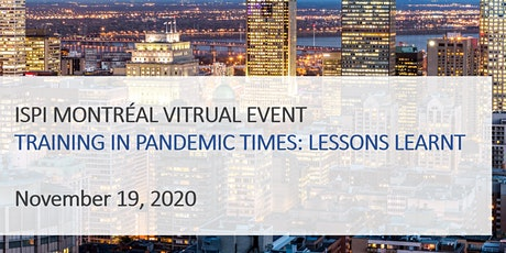 Training in pandemic times: lessons learned tickets
