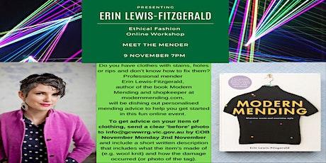 Rerun - Ethical Fashion Workshop - Meet The Mender - Erin Lewis-Fitzgerald tickets