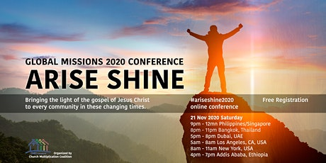 Arise Shine Global Missions Conference 2020 tickets