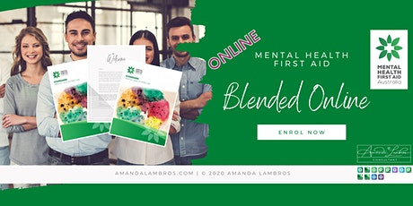 Mental Health First Aid Blended  - Online Training tickets